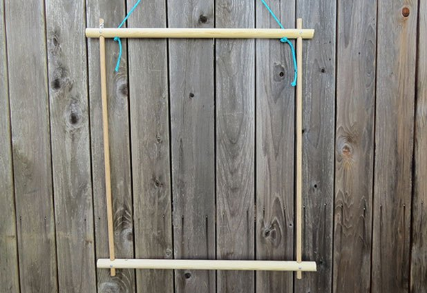 Temporarily hang frame for easy use.