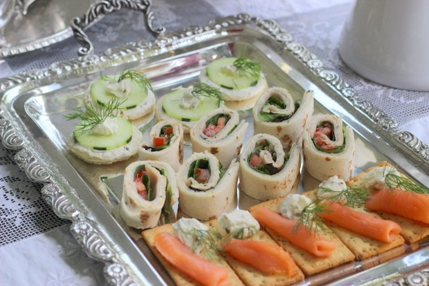 Savory treats for a tea party.