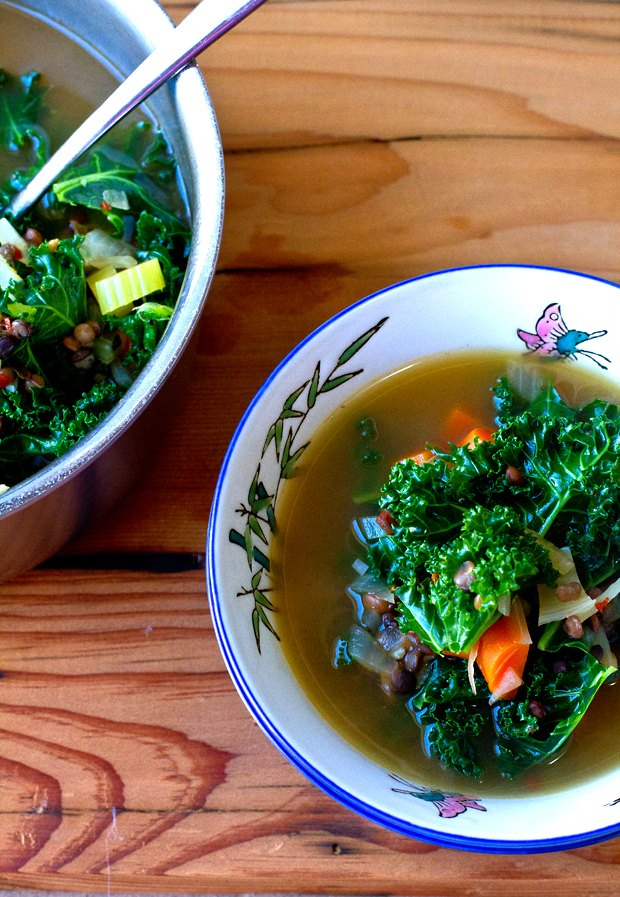 How to Make French Lentil and Kale Soup