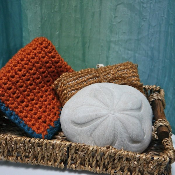 Paired with some special soap, a handmade dishcloth makes an excellent gift.