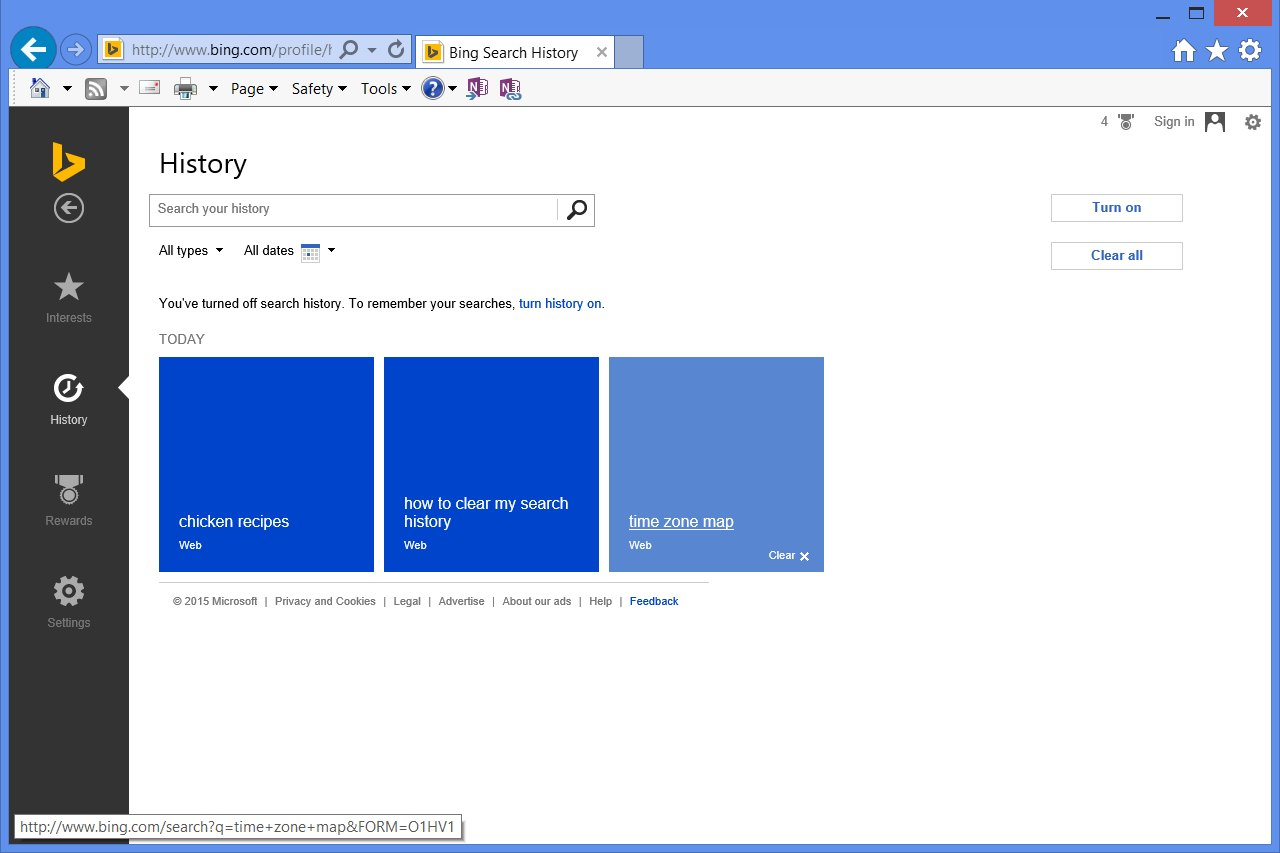 how to delete bing history with pictures ehow. Black Bedroom Furniture Sets. Home Design Ideas