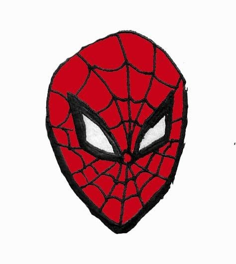 Draw Spiderman's Face