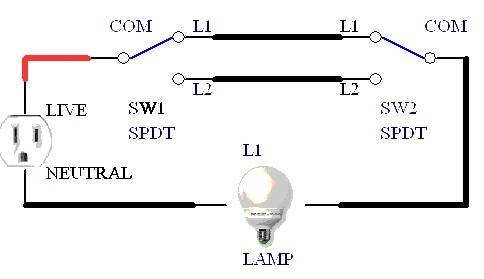 Four Switches One Light on three way dimmer switch light wiring diagram