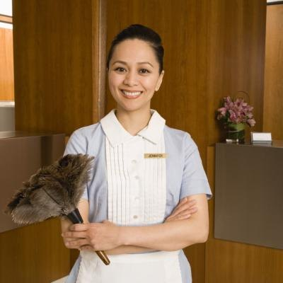 Housekeepers work in both homes and hotels.
