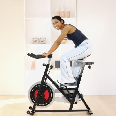 Using an exercise bike provides an impact-free, calorie-burning workout.