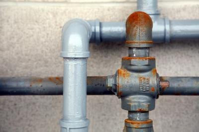 pipes on outside of house