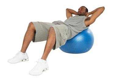 Do situps on an exercise ball to prevent rug burn.