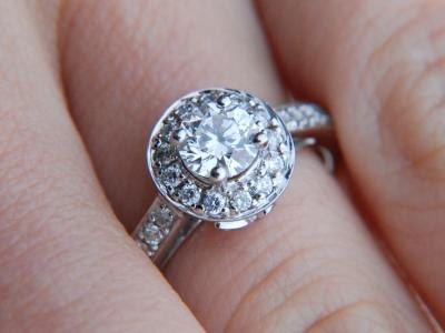 Engagement rings through time have included many different stones.