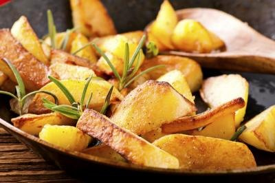 Close-up of grilled potatoes