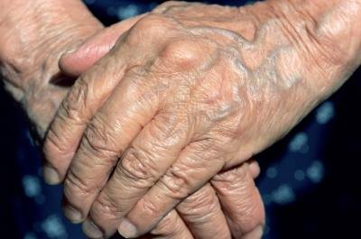 A older woman's hands.