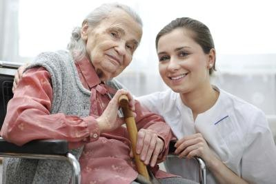 Care workers assist the disabled with personal and physical care.