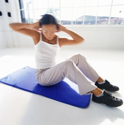 Target your entire core with this rotational abdominal exercise.