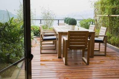 An attractive patio floor complements your outdoor furniture and decor.