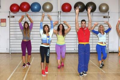 People doing Zumba fitness exercises