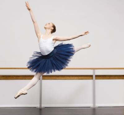 Ballet requires balanced leg muscles for leaping.