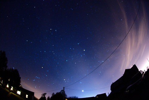 Orion, in the lower left hand corner of the picture.