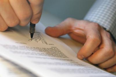 If you and the seller can come to terms, you will both sign the agreement.