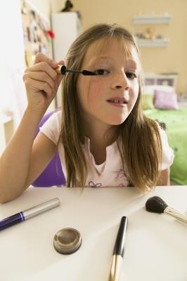 Go light with eye makeup.