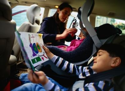 AAP urges parents to keep children in a forward-facing car seat with five-point harness until they outgrow this device.