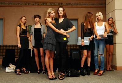 Models wait their turn at a casting call