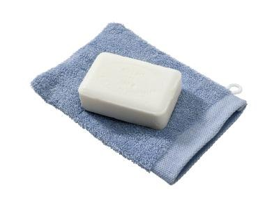 Wash with mild soap and a washcloth.
