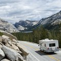 Camping on 395 on the East Side of Yosemite National Park