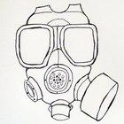 Cómo dibujar una máscara de gas
