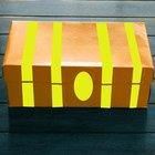 ¿Cómo hacer una caja en forma de cofre del tesoro?
