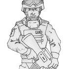 Cómo dibujar soldados del ejército