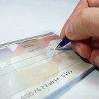 Cómo escribir un cheque anulado