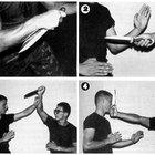 Técnicas militares con cuchillo de combate y empuñaduras