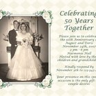 Ideas for a 50th Wedding Anniversary Invitation