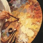 Cómo pintar árboles en una pintura al óleo