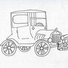 Cómo hacer una maqueta de auto con hojalata