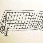 Cómo dibujar un arco de fútbol
