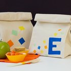 DIY Potato-Stamped Reusable Lunch Sacks