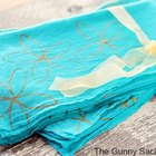 DIY Spring Dish Towels With Metallic Gold Flowers
