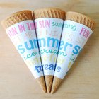 Spruce Up Ice Cream Cones with Subway Art Wrappers