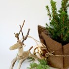 Driftwood and Twig Reindeer Ornament