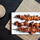 Smokey Porter Molasses Chicken Skewers