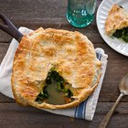 Curried Spinach and Artichoke Skillet Pot Pie