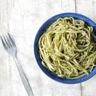 Quick and Easy Basil Pesto Linguine