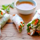 Apple Jicama Salad Rolls with Peanut Dipping Sauce