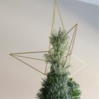 DIY Himmeli-Style Christmas Star Tree Topper