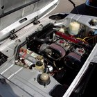 A drained car battery needs a jump start to start working again
