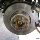 Drum brakes are commonly used on rear wheels.