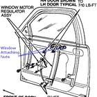 Passenger side window regulator