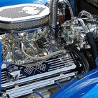 The Chevrolet 327 cubic inch V8 engine could produce 365 horsepower.