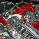 The AC compressor is located below the alternator on this Volkswagen Jetta