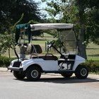 Club car used on a golf course